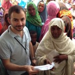 Julian Flores (M AIR '13) while a student, at his internship with the World Food Programme in Djibouti
