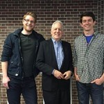 John C. Pollock (c) with student co-authors Kyle Bauer (l) and James Etheridge (r)
