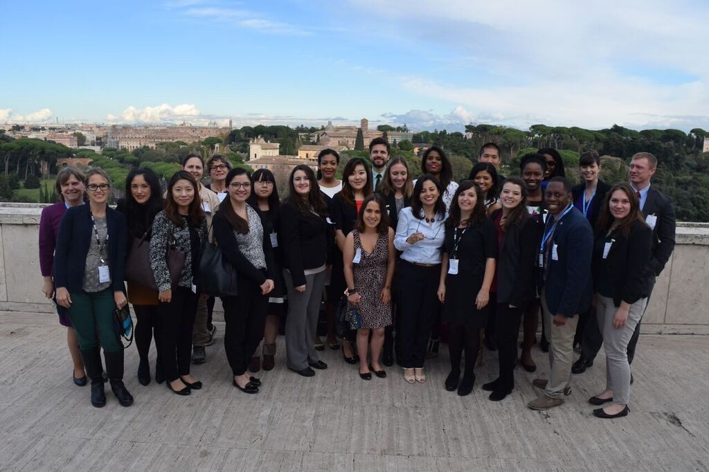 Professor Bertini and her students at FAO sit visit in Rome