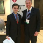 Alexander Laska ('15) and Dean David Van Slyke at NAPA Conference Today, where Alex was honored as Roback Scholar
