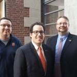 NYS Fellows: (l-r) Joshua Beams, Danny Friedman, Kendall Reed