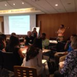 Our New MA IR students participating in a session lead by PARCC Director, Catherine Bertini